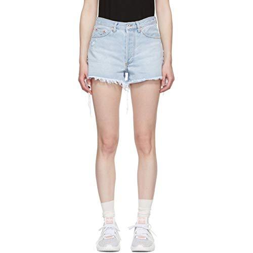 リング馬鹿もつれ(オフ-ホワイト) Off-White レディース ボトムス?パンツ ショートパンツ Blue Denim Five-Pocket Shorts [並行輸入品]