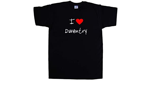 I Love Heart Daventry Ladies T-Shirt
