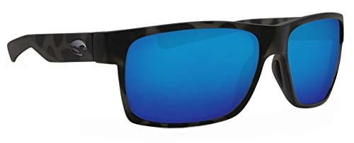 Costa Ocearch Half Moon Sunglasses Tiger Shark Frame/ Blue Mirror 580G Glass - Sun And Moon Sunglasses