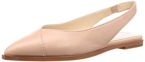 Cole Haan Women's Anora Skimmer Ballet Flat, Mahogany Rose Grainy Leather, 10 B US