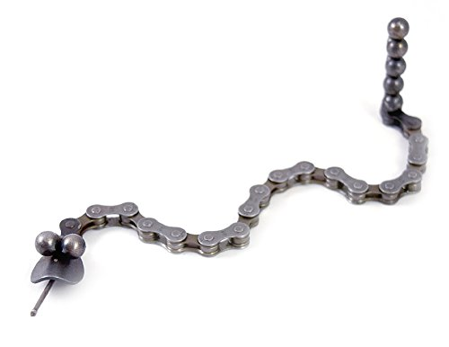 - Modern Artisans Flexible Metal Upcycled Bicycle Chain Baby Snake Desk Pet, American Made