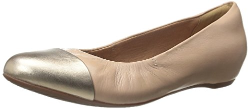 Clarks Women's Alitay Susan Flat, Nude Pink/Gold Combo, 6 M US