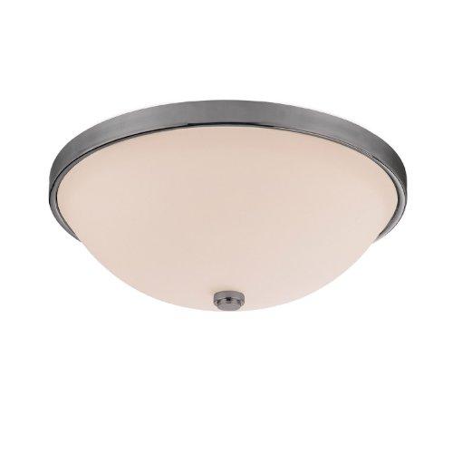 Capital Lighting 2323MN-SW Covington 2-Light Flush Mount, Matte Nickel Finish with Soft White Glass