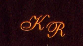 Toalla de mano 50 x 100 cm de Nueva York marrón iniciales, bordado/bordado