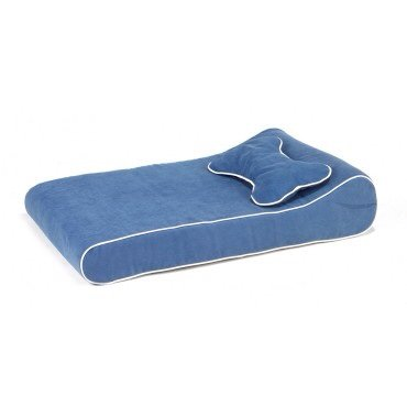 Contour Lounger Dog Bed in Blueberry