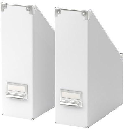 Ikea Kassett - Archivador (2 unidades), color blanco: Amazon.es: Hogar