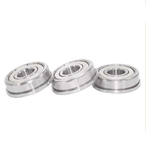 10pcs F6000ZZ 10x26x8mm ABEC1 Flange Bearing Metal Shielded  Deep Groove