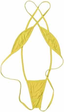 52ea4a1983811 ACSUSS Women s Teeny Weeny Sling Shot Micro Bikini One Piece Teddy Babydoll  Lingerie