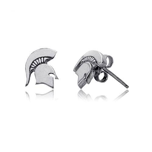 Michigan State University Spartans MSU Sterling Silver Jewelry by Dayna Designs (Stud Earrings)