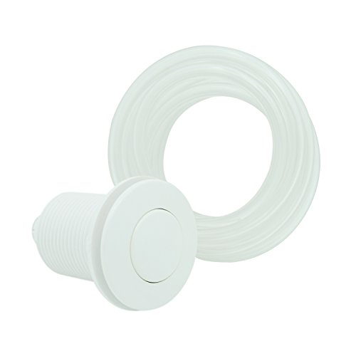 Air Activated Switch Button with Air Hose, Sink Garbage Disposal Parts (WHITE)
