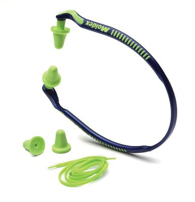 Moldex(R) Jazz Band(R) Blue And Bright Green Under Chin Banded Earplugs With Optional Breakaway Cord