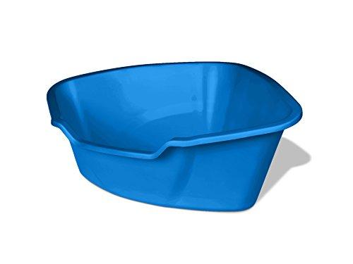Van Ness Corner High Sides Cat Litter Pan, Large, Blue