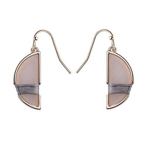 Bohemian Circle Hoop Earrings, Acrylic Resin Drop Gold Plated Earrings,Fashion Jewelry Gift for Women ()