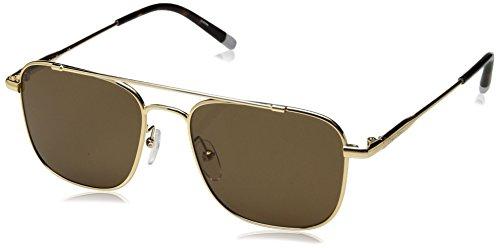 Calvin Klein Unisex Ck2150s Navigator Aviator Sunglasses, Gold, 53 mm by Calvin Klein