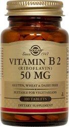 Solgar Vitamine B2 100 mg. [100 comprimés] Soutien de l'énergie. K.