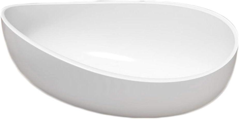 blanc mat ou haute brillance pure acrylique Vasque min/érale:Mat en fonte min/érale - 60x37x21cm Vasque /à poser WAVE PB2001