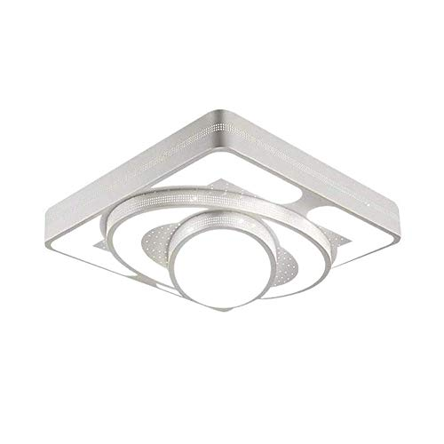 - Mengzhu-Michelle 30W 2100 Lumen LED Square Ceiling Lamp Dimmable Ceiling Lamp with Remote Control Living Room Bedroom Lamp Hallway Stairs Balcony Lamp Acrylic Ceiling Light White Bathroom La