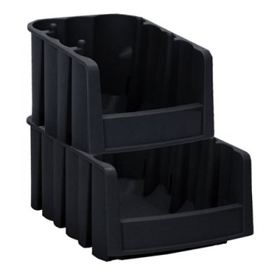 Akro Economy Bins - Black Akro-Mils Economy Nest and Stack Bins, 11 7/8