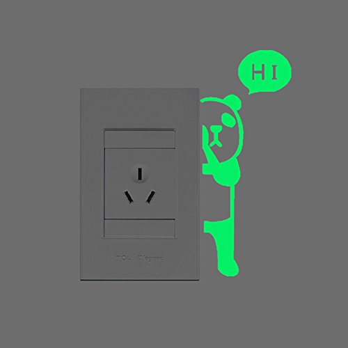[FLY SPRAY 3-Pack Creative Wall Decorative Skin Panda Sticker Glow in the Dark Light Switch Decor Removable Vinyl Decals] (Cute Halloween Decorated Cupcakes)