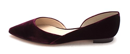 Marc Fisher Womens Sunny2 Fabric Pointed Toe Slide Flats, Red, Size 8.0 from Marc Fisher