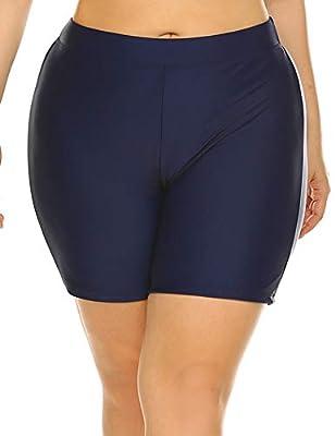 IN'VOLAND Plus Size Swimwear Swim Shorts Swim Bottoms UPF50+ UV Protection for Women