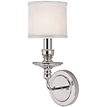 Capital Lighting PN Wall Sconce With White Fabric Shades - Bathroom sconces with shades