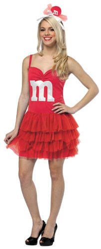 Rasta Imposta M&M's Party Dress, Red, Adult 4-10 (M Party Costumes)