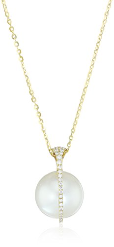 TARA Pearls Galaxy 18k Gold 12x13mm White South Sea Pearl and Diamond Pendant Necklace(1/5cttw, G-H Color, SI1-SI2 Clarity) - Diamonds 13mm South Sea Pearl