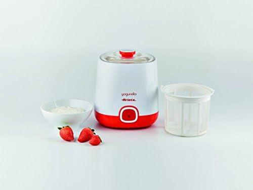 Ariete 621 Yogurtera, capacidad 1 litro, 20 W, 12 horas preparación, tapa doble, diseño compacto apto lavavajillas, Blanco/Naranja: Amazon.es: Hogar