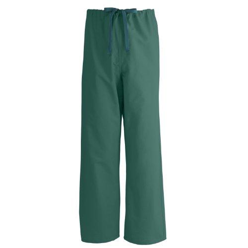AngelStat Unisex Reversible Drawstring Scrub Pants,Hunter Green,XLPANT, ,HUNTER,ANG-CC,XL 1EA