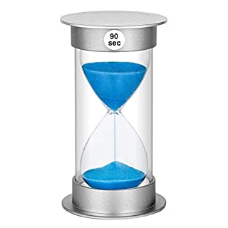 SuLiao 90 Second Sand Timer, Giant Plastic Unbreakable Hourglass Sand Clock for Kids Games Classroom (90 Sec, Blue Sand)