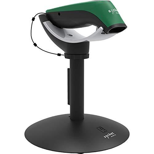 SocketScan S760, Universal Barcode Scanner & Travel ID Reader, Green & Charging Stand