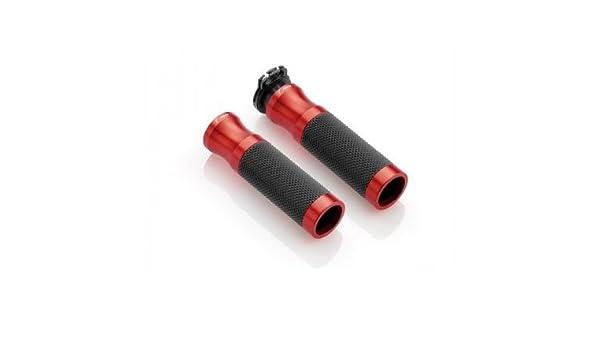 Pu/ños Aluminio mecanizado y Goma Sport Line /Ø 22 mm Color Rojo GR205R//271 RIZOMA RIZOMA GR205R//271