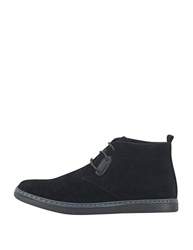 Bitter & Sweet Men's Men's Blue Suede Boots Synthetic Leather Black