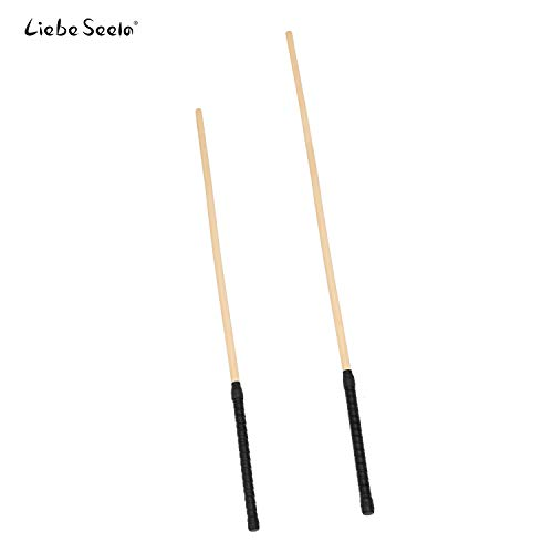 Liebe Seele 26.5'' & 31.5'' Unbreakable Rattan Caning Canes Whip Riding Crop Set of 2 Pieces