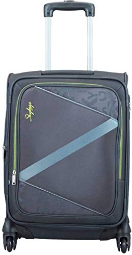 Skybags Polyester Spotlight 4W Exp Strolly 55 Expandable Cabin Luggage  Grey, H