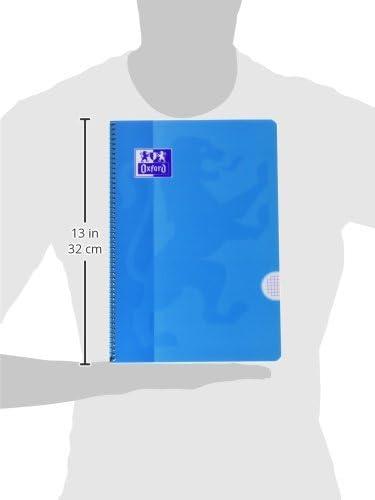 Oxford 941611 4 x 4 Raster farblich sortiert Folio Notizbuch 80 Blatt