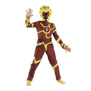 Costumes Fancy Dress Ben 10 (Ben 10 Heatblast Costume - Child Costume - Medium)