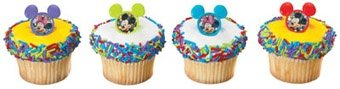 Disney Mickey and Minnie Cupcake Topper Rings - 12ct