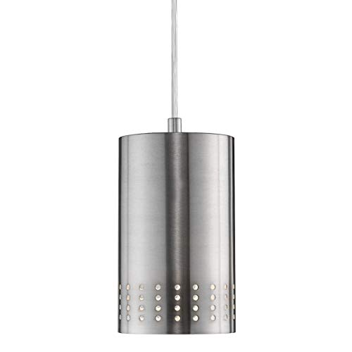 Contemporary Brushed Nickel 1 Light Pendant in US - 4