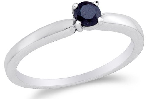 White Gold Classic Single Ring - 5