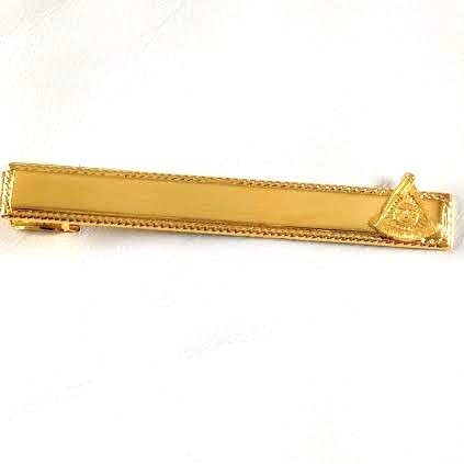 D2513 Masonic Personal Tie Bar with Past Master Emblem Without the Square