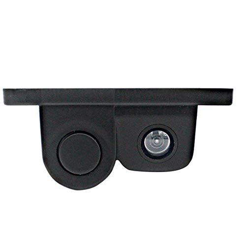 OmkuwlQ Universal 3-in-1 Car Reversing Camera Parking Sensor Reverse Rear View Camera Dual LED Light DC 12V (Best Mirrorless Camera Under 500 Uk)