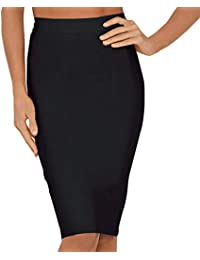 Women's High Waist Knee Length Bandage Pencil Skirt