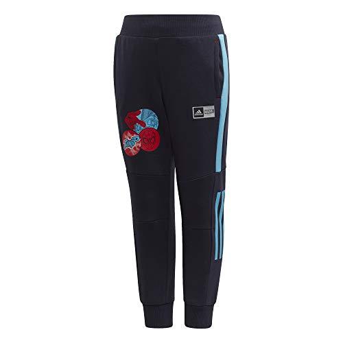 adidas LB DY SM Pant Pantalon de Sport Garçon, Legend Ink/Bright Cyan/Hi-Res Red S18, FR : L (Taille Fabricant : 1824)