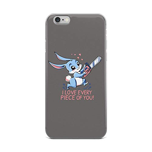 iPhone 6 Plus/6s Plus Pure Clear Case Cases Cover I Love Every Piece of You Bunny Cartoon -