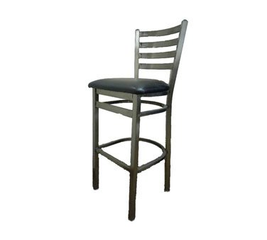 Oak Street Bar Stool metal ladder back seat to be specified gray/metal - SL135C-1