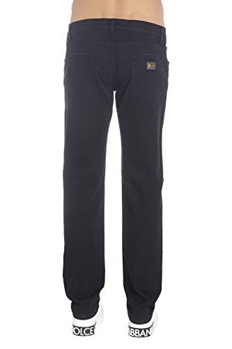Pantaloni Gy07cdg8an6s9001 Cotone Uomo Nero Gabbana Dolce E 1xqwEpOgg