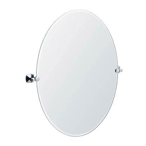 Gatco 4149LG Jewel Frameless Oval Mirror, Chrome, 32'' H by Gatco