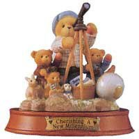 (Cherished Teddies WINFIELD Resin Teddy Bear Millennium 476811)